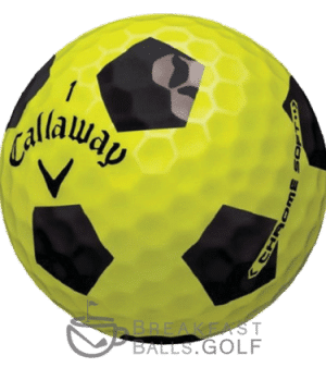 Callaway Chrome Soft Truvis Black and Yellow used golf balls