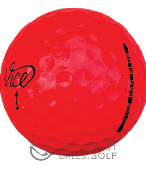 Vice Pro Plus Red used golf balls