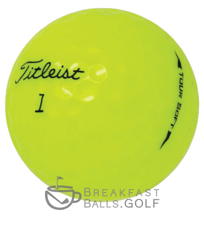Image of Titleist Tour Soft yellow used golf balls