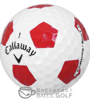 Callaway Chrome Soft Truvis Red and White used golf balls SCALED